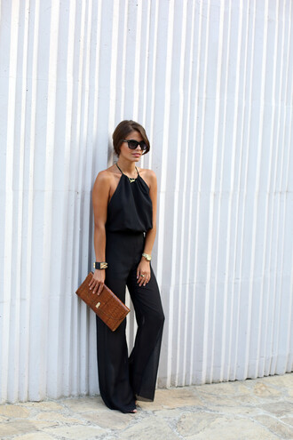 seams for a desire blogger jumpsuit shoes sunglasses jewels bag