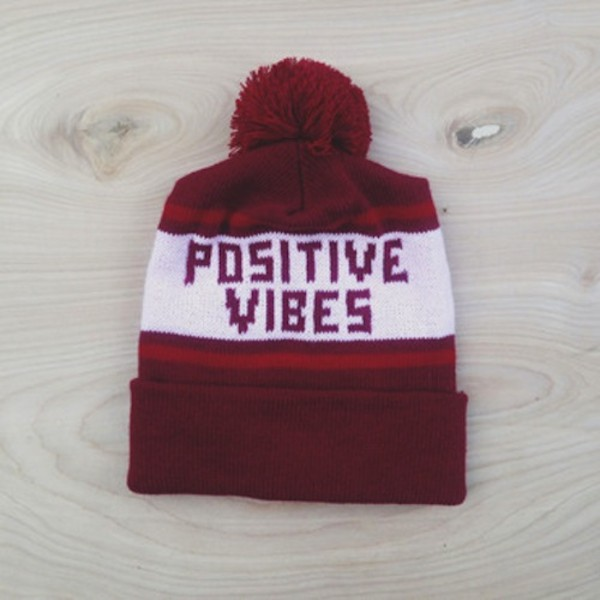 0116a6b2015 hat beanie pom pom positive happy fashion clothes winter outfits.