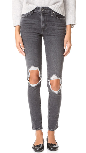 Levi'S 721 High Rise Skinny Jeans - Washed Black