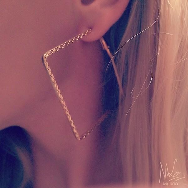 jewels earrings hoop earrings square jewelry jewelry