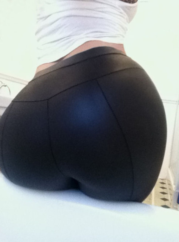 pants leggings leather pvc leggings tight black