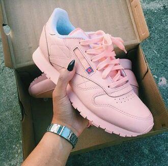 shoes urban pastel pink reebok pastel sneakers urban