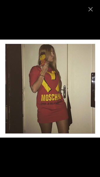 dress moschino mcdonalds