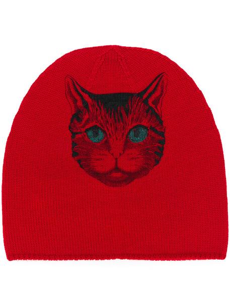 gucci women beanie wool red hat