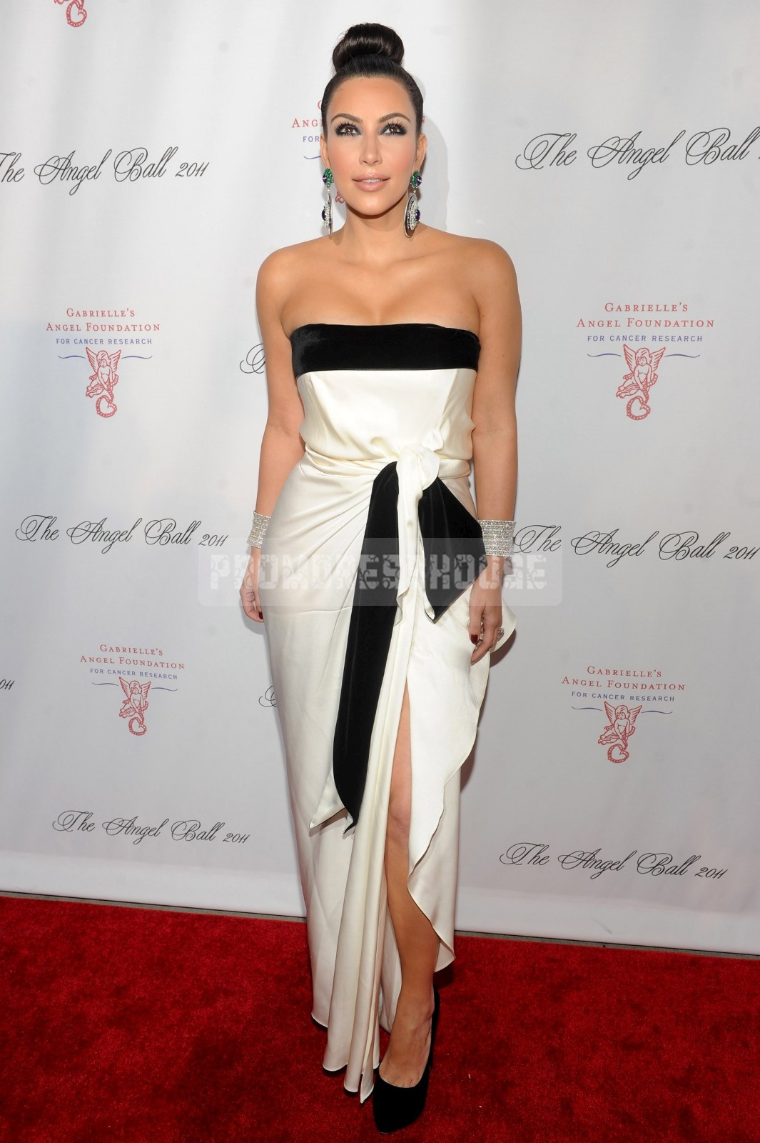 Strapless Trendy Satin Ruffles A-line White Celebrity Dress - Promdresshouse.com
