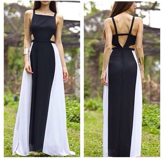 dress monochrome maxi dress long dress maxi dress monochrome black dress