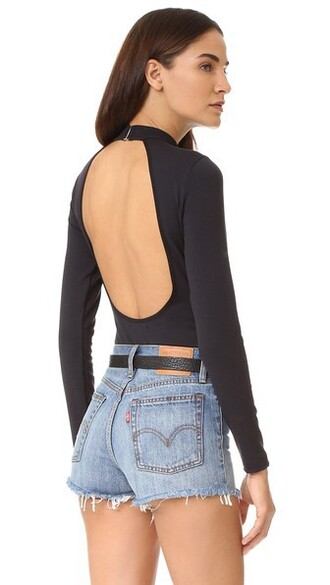 bodysuit back open open back black underwear