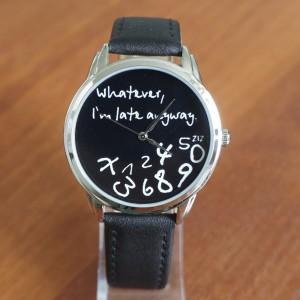 Black on Black - 'Whatever, I'm late anyway' watch | ZIZ iz TIME