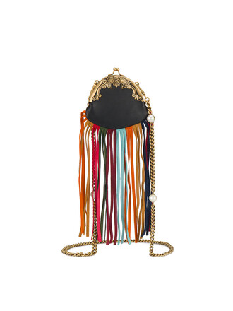 mini women bag leather black