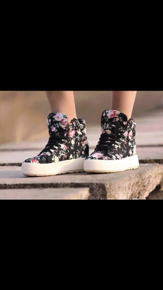 shoes sneakers floral