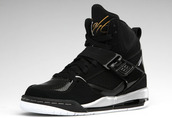 shoes,jordans,nike,flight45,metallic gold,black,high