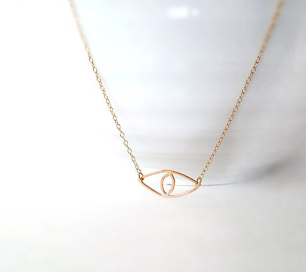 jewels evil eye gold necklace best gifts gold valentine's day handmade necklace gold chain etsy.com