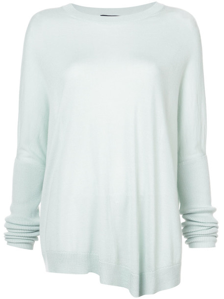 Sally LaPointe jumper women silk green sweater