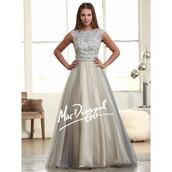 dress,party dress,evening dress,gown,ballet flats,aqua fit and flare mac duggal