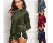 top,velvet,green,red,sweatshirt