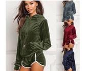 top,velvet,green,red,sweatshirt