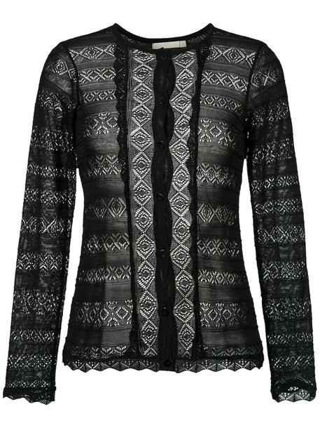 Cecilia Prado cardigan cardigan women black knit sweater