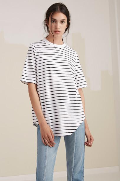 The fifth t-shirt shirt t-shirt white black top