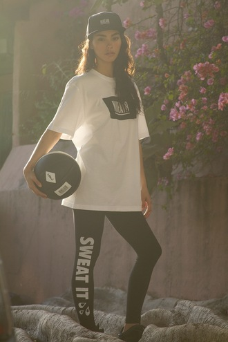 sweat the style hat t-shirt pants shoes