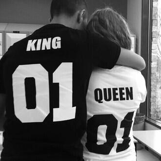 shirt king 01 and queen 01 matching set girlfriend boyfriend love