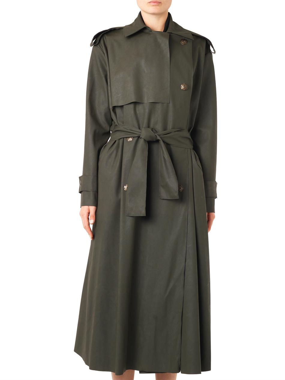 Matte faux-leather trench coat | Lanvin | MATCHESFASHION.COM