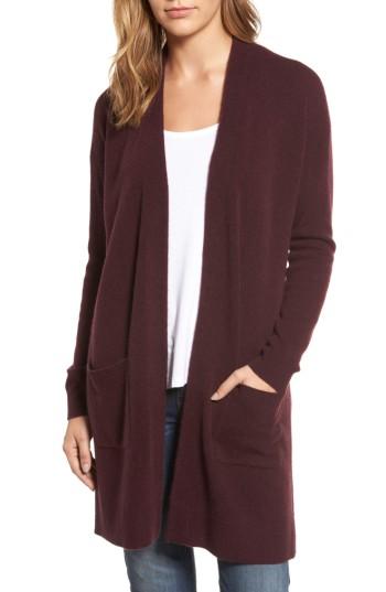 Halogen® Rib Knit Wool & Cashmere Cardigan | Nordstrom