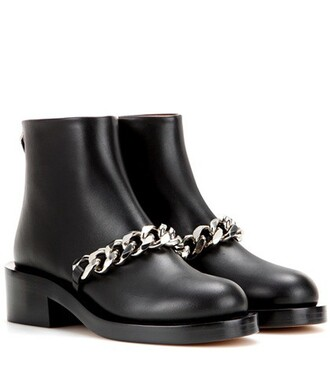 embellished boots leather boots leather black shoes