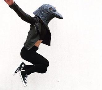 jacket leather jacket converse crop tops black jeans
