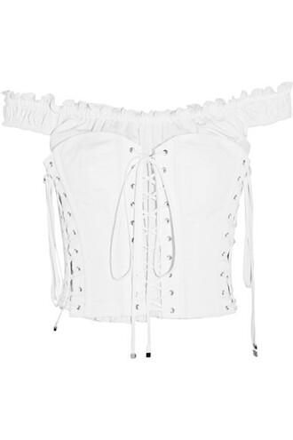 top bustier bustier top lace white cotton