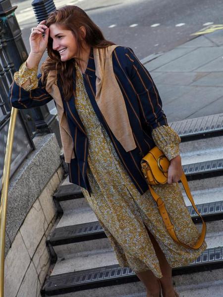fashion foie gras blogger dress jacket bag shoes