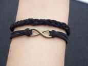 jewels,infinity,infinity bracelet,leather bracelet