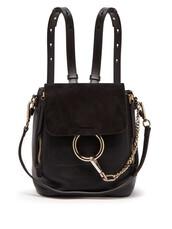 backpack,leather,suede,black,bag