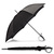 "Elegant 45"" Polyester Black Auto Automatic Umbrella w Sword Shaped Handle 