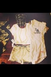 shirt,shorts,crop tops,snap backs,hat