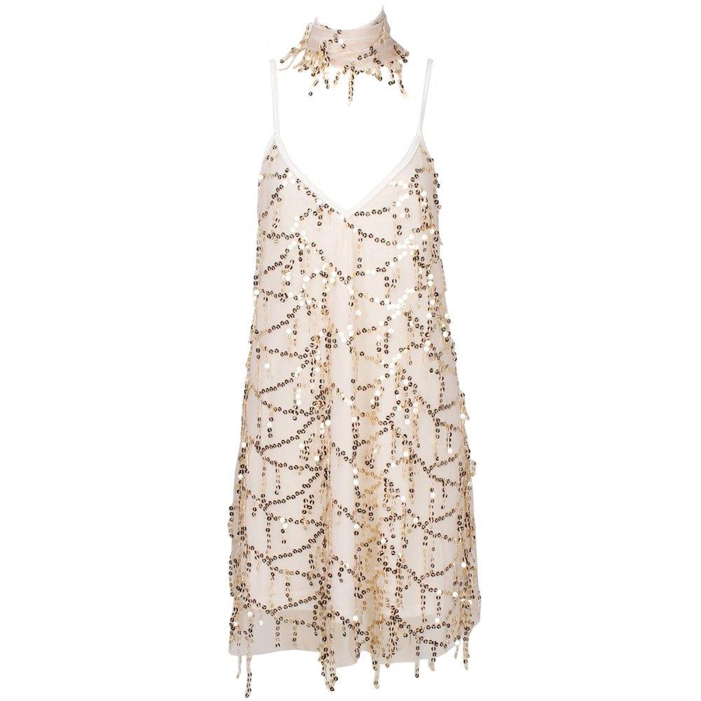 Gold Sparkle Sequined Elegant Tassels Dress on Storenvy