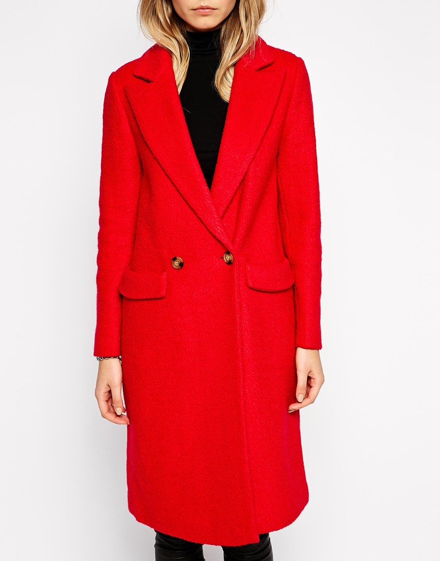 Asos coat with back tab detail at asos.com