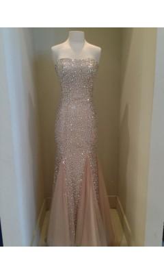 Cinderlla prom crystal embellished evening dress 4426