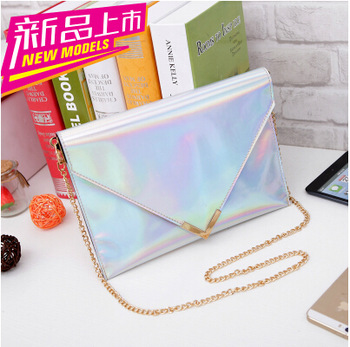 2014 Hot Sale !Hologram Laser Envelope Clutch Bag Women Silver&Gold Color Evening Handbag Shoulder Messenger Bag Free Shipping -in Evening Bags from Luggage & Bags on Aliexpress.com | Alibaba Group