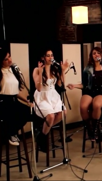 dress white lace dress lauren fifth harmony
