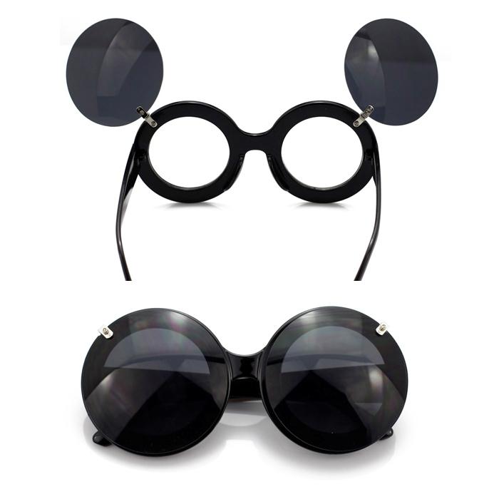 Oversized mickey flip glasses