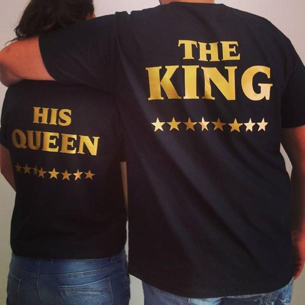T Shirt Tees2peace King Queen Gold Edition Love Tees Couple
