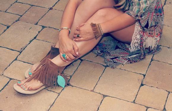 hippie native american boho fringes fringe shoes