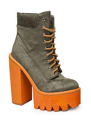 Jeffrey Campbell The HBIC Boot in Khaki Hair CalfExclusive : Karmaloop.com - Global Concrete Culture