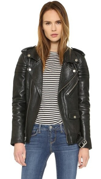 jacket quilted stripes black