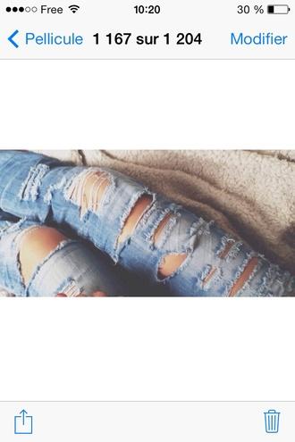 jeans light blue torn jeans