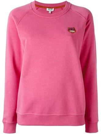 sweatshirt mini tiger purple pink sweater