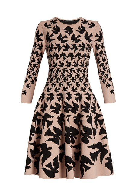 Alexander Mcqueen dress black pink