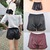 Sexy Womens Ladies Elastic Waist Faux Leather Shiny Hot Mini Shorts Pants | eBay