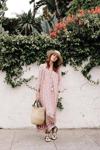 could i have that blogger dress shoes bag hat sandals long dress black shoes big bag