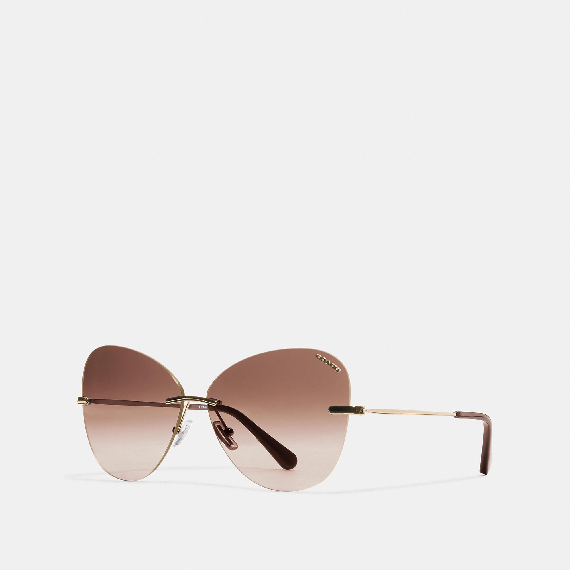 Rimless Lens Applique Sunglasses